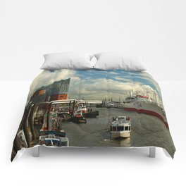 Elbharmonie With Harbor Scene Comforters