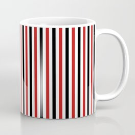 Red and Black Strpes Vertical Coffee Mug