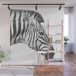 Black and White Zebra Profile Wall Mural