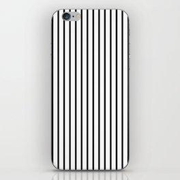Black Pinstripe On White Pattern iPhone Skin
