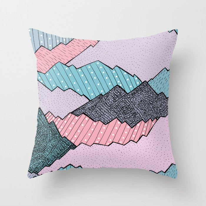 Mountain Tones Throw Pillow