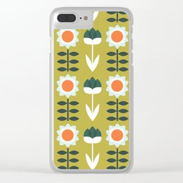 Set Sun Olive Clear iPhone Case