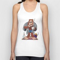 bigfoot Tank Tops featuring Bigfoot Lebowski by Eli Wolff