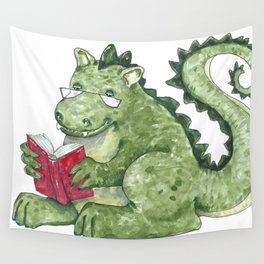 Dragon A Book OUt Wall Tapestry