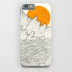 The great sun over the sea cliffs iPhone 6s Slim Case