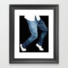 blue jeans on  Framed Art Print