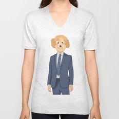 Posing Poodle Unisex V-Neck