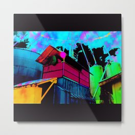 Color Silo Metal Print