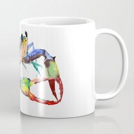 Crab, Sea World Rainbow Colors Beach Coffee Mug