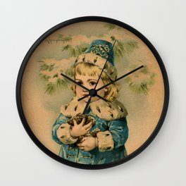 Russian Girl Maud Humphrey Wall Clock