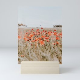 flower field Mini Art Print