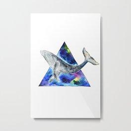 Galaxy Whale Metal Print