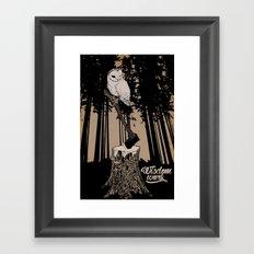 Wisdom takes Work Framed Art Print