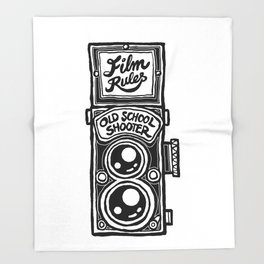 Analog Film Camera Medium Format Photography Shooter Throw Blanket
