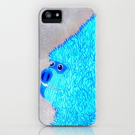 Blue Gorilla iPhone Case