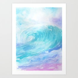 Ombre Wave Art Print