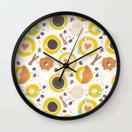 Coffee upper view Wall Clock