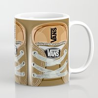 vans Mugs featuring Cute brown Vans all star baby shoes apple iPhone 4 4s 5 5s 5c, ipod, ipad, pillow case and tshirt by Three Second