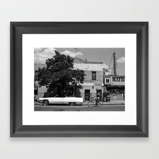 Man on a Bike Framed Art Print