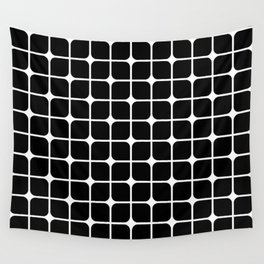 Mod Cube - Black & White Wall Tapestry