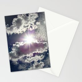 Silver Linings sun through the clouds Stationery Cards
