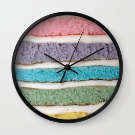 YES TO RAINBOW CAKE Wall Clock