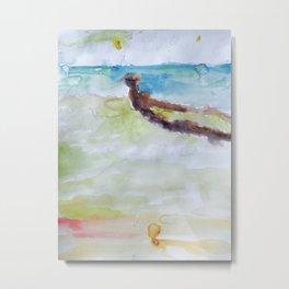 Miami Beach Watercolor #3 Metal Print
