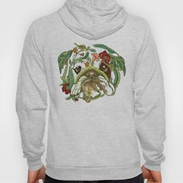 Botanical English Bulldog Hoody
