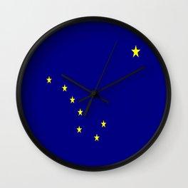flag of alaska,america,usa,ice, north,Midnight Sun,Alaskan,Anchorage,Fairbanks,Juneau Wall Clock