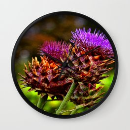 The Colour Purple Wall Clock