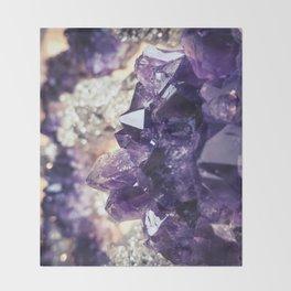 Crystal gemstone - ultra violet Throw Blanket