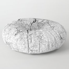 Brussels White Map Floor Pillow