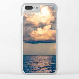 Heavenly Clouds Clear iPhone Case