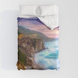 Big Sur Bixby Bridge Adventure Comforters