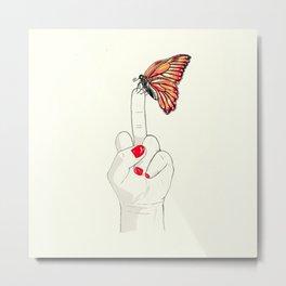 Peineta y mariposa Metal Print