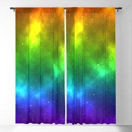 Rainbow Galaxy Print Blackout Curtain