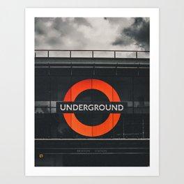 Brixtion Station, Underground Art Print