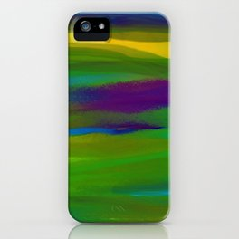 Green Mardi Gras Abstract iPhone Case