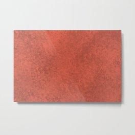 Pantone Living Coral, Liquid Hues, Abstract Fluid Art Design Metal Print
