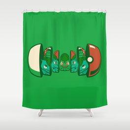 Poketryoshka - Grass Type Shower Curtain