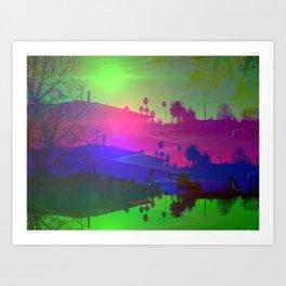 Californian suburb, 2020 by R. Winters Art Print