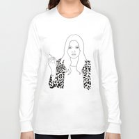 kate moss Long Sleeve T-shirts featuring Kate Moss by Whiteland