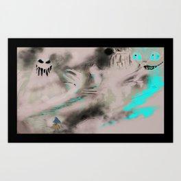 Alice in Horrorland Art Print