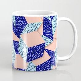 Colorful Aqua Geometric Pattern Coffee Mug