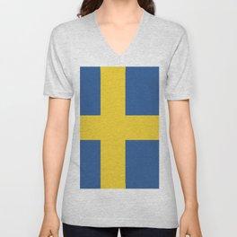 Sweden flag emblem Unisex V-Neck