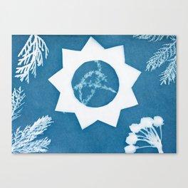 Sunprint - 9 Pointed Star Canvas Print
