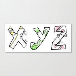 X Y Z.. Canvas Print