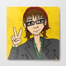 Manga Girl Me | Veronica Nagorny  Metal Print