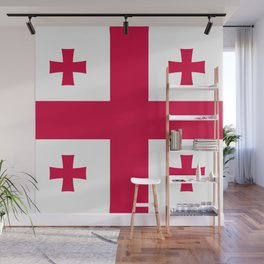 Georgia flag emblem Wall Mural