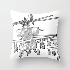 Apache's flying Toon Render Throw Pillow